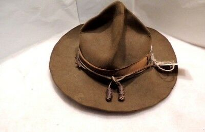 Vintage 1930s-1940s Boy Scout Hat with inside logo