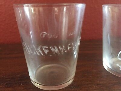 1908 Shot Glass Good Old Guckenheimer Whiskey Pure Rye Pittsburgh PA