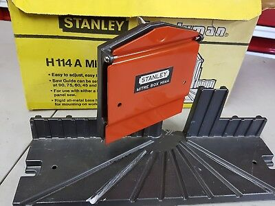stanley H 114 mitre box boxed made in usa stanley plane