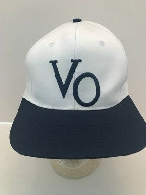 Seagrams VO Embroidered Logo White SnapBack Cap Hat