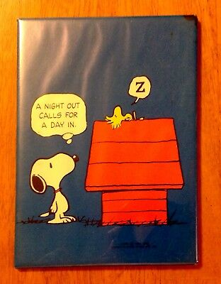 Vintage Hallmark Peanuts Snoopy & Woodstock standing plaque A Night Out . . .