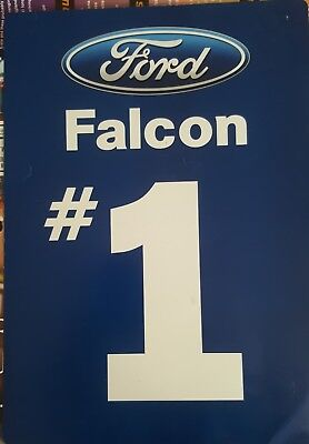 V8 Supercars Used FORD Falcon #1 Paper Sign