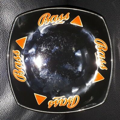 Rare Collectable Bass Beer Ceramic Ashtray Made By Wade Pdm England Square Black