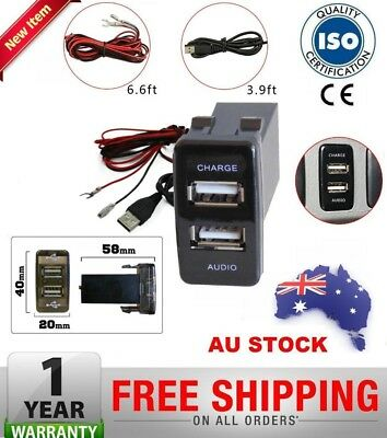 Dual USB 2 Port Charger for Toyota Landcruiser70 75 76 78 79 Series Audio Switch