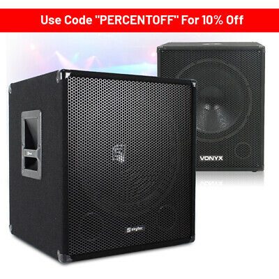 "CHOICE SWA Series Active Powered DJ Sub Party PA Subwoofer 15"" 18"" 600-1000W"