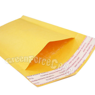 "100x 5x7"" KRAFT BUBBLE MAILERS PADDED ENVELOPE SHIPPING SELF-SEAL BAGS 122x178mm"