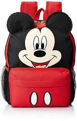 "16"" Disney Mickey Mouse Face Medium School Backpack with Ears"
