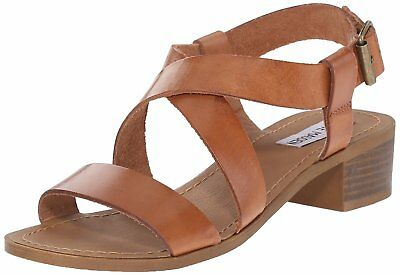 2c90c6edee3 STEVE MADDEN WOMENS Daly Leather Open Toe Casual Strappy Sandals ...