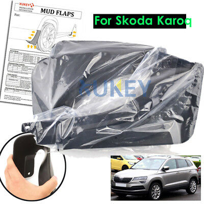 Set Mud Flap For Skoda Karoq 2018 Front Rear Mudflaps Mudguards 2019 2017 Fender