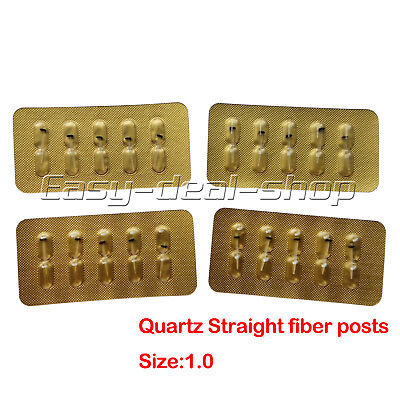 50pcs Dental Quartz Fiber Post Single Refilled Package Size 1.0mm On Sale