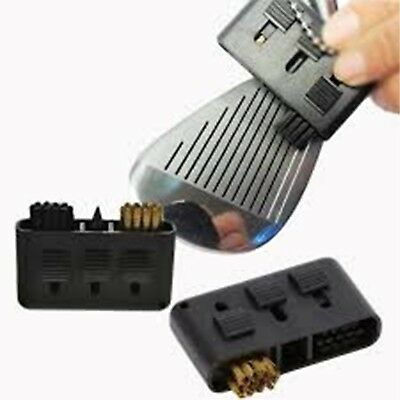 3in1 Dual Bristles Golf Ball Brush Groove Cleaner Pocket Club Tool