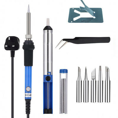 9 Pieces Set Solder Soldering Iron Kit 60w 220 Volt Best for Small Electric Work