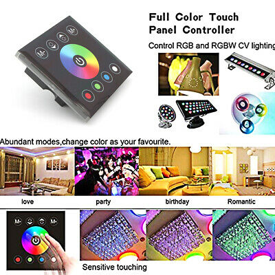 DC12/24V Full Color RGBW Touch Panel Wall Switch/Dimmer for RGBW LED Strip Light