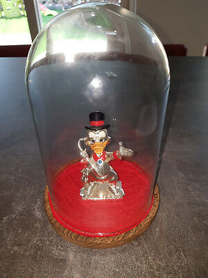Extremely Rare! Walt Disney Scrooge McDuck Silver Plated Old Figurine Statue