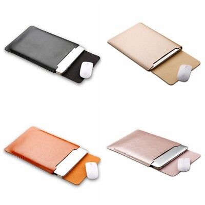 Leather Laptop Case Sleeve Carry Bag Pouch Cover For Macbook 11 12 13 15'' AU
