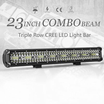 23 inch CREE LED Light Bar Triple Row Combo Beam Work Driving Lamp Offroad 4WD