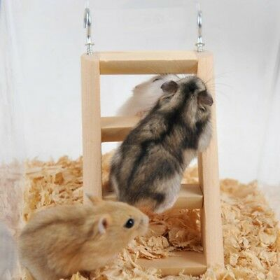 Cute Wooden Hamster Ladder Climbing Toy For Hamster Squirrel Guinea Pig House