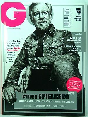 Revista Magazine Gq Spain April 2018 Cover Steven Spielberg Ready Player One