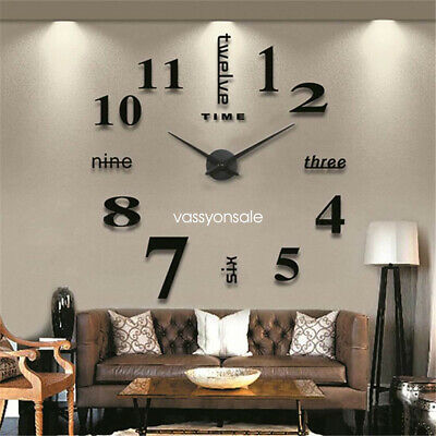 3D Large Number Clock Timer Wall Sticker DIYDecor for Home Office Kids Room