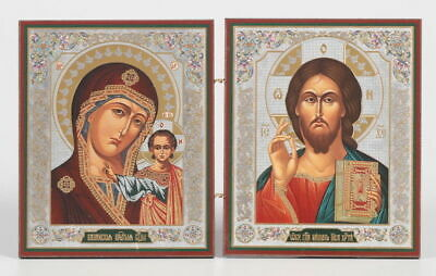 Orthodox icon Jesus Christ and Kazan Icon of the Mother of God 15x22 cm