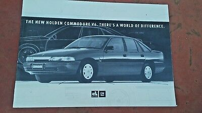 Original Holden 1991 VP Commodore dealers only introduction  sales brochure