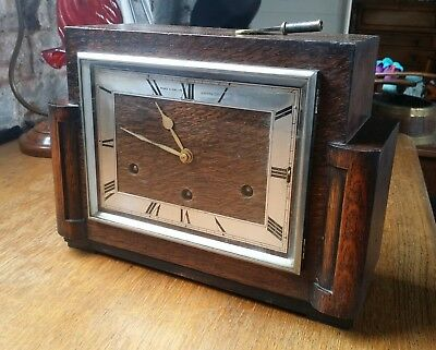 Art deco WestMinster Chime Garrard Clock