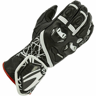 Richa Tiran Leather Sports Motorcycle Motorbike Gloves - White