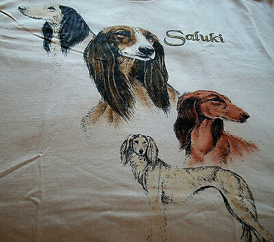 "Saluki T-shirt "" White "" Medium ( 38 ~ 40 )"