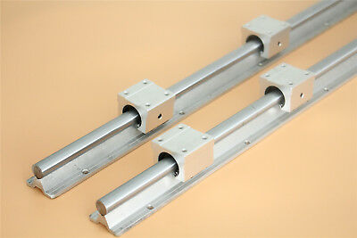 2X SBR16 16mm Linear Guide Rail L300-1500mm with SBR16UU Shaft Rod Set