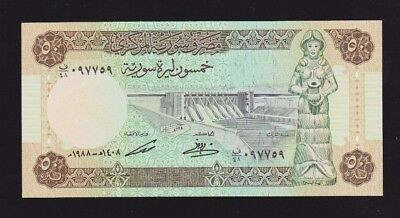 Syria 50 Pounds 1988 P#103d UNC Condition Very Nice Note