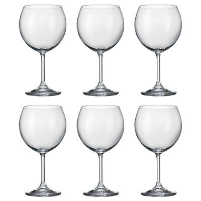 Bohemia Crystal Set of 6 Kiara Red & White Wine Glasses 460ml 16.1 oz