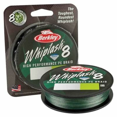 32lb Berkley New Whiplash 8 Carrier Green Braid 300m 0.10mm