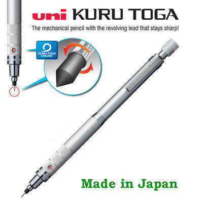 Uni Kuru toga Mechanical pencil 0.5mm roulette: Silver