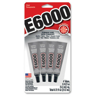 E6000 Glue Jewellery making DIY Multi-Purpose 5.3ml 1 or Pack 4 Rhinestone Craft
