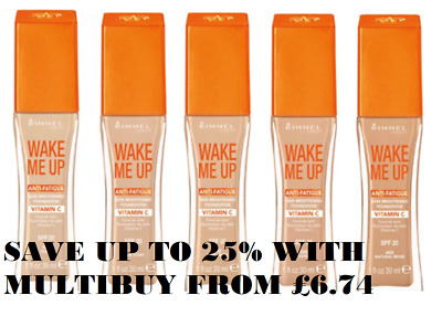 RIMMEL Wake Me Up Anti-Fatigue Foundation 30ml SPF20 - CHOOSE SHADE - NEW Sealed
