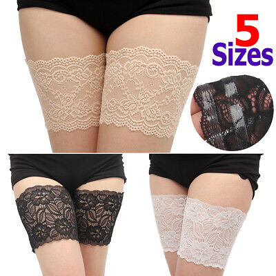 1 Pair Non-Slip Lace Elastic Sock Anti-Chafing Thigh Bands Prevent Chafing Socks