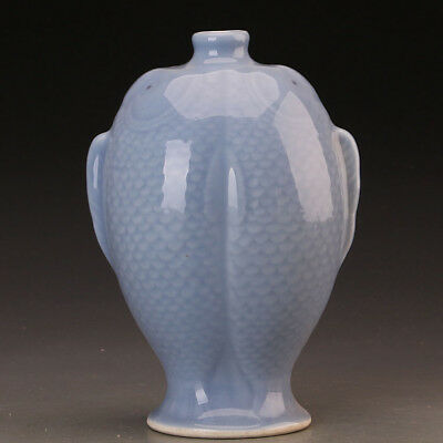 Great Chinese Antique Monochrome Glaze Porcelain Fish Vase
