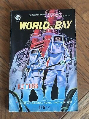 World at Bay - E.C. Tubb - Hamilton Ltd 1954 - John Richards cover - NICE COPY !