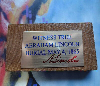 Abraham Lincoln 1865 Burial Witness Tree Piece - JULY/AUGUST SPECIAL