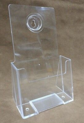 "Acrylic Leaflet Brochure Holder Lot 18 Ct Office Information Display 4"" Tri-Fold"