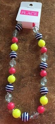 Girls The Children's Place Multi-Color Beaded Necklace   ~BRAND NEW~