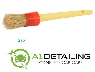 12 x Soft Detailing Brushes for Car Cleaning Vents, Dash, Trim, Seats, Wheels