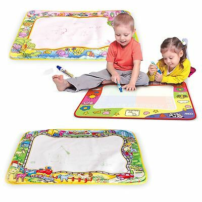 Children Kids Aqua Water Magic Pen Drawing Painting Writing Doodle Mat Board Toy