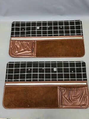Ih International Scout Ii Terra Traveler Russet Plaid Door Panels