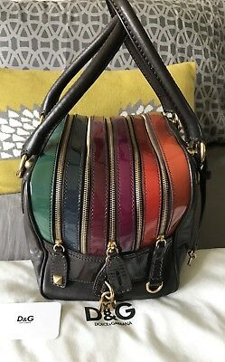 5eb0974655 DOLCE AND GABBANA Lily Bag Mint Condition Multi Colour D G - £350.00 ...