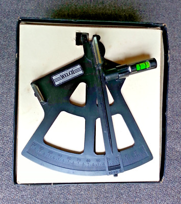Vintage Sextant Maritime Navigational Tool ~ Welch Scientific Company Chicago IL