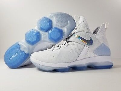 0c9216eda76 Nike Lebron 14 XIV Time to Shine Basketball Shoes White Multi color  860631-900