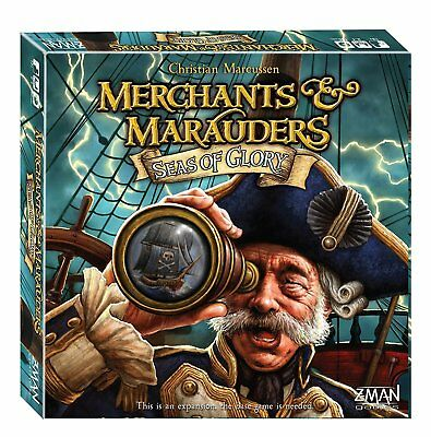 Merchants and Marauders SEAS OF GLORY Expansion ENGLISH Board Game OVP Z-Man