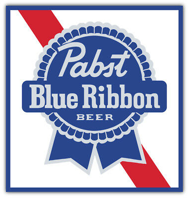 Pabst Blue Ribbon Logo Sticker Car Bumper Decal - 9'', 12'' or 14''