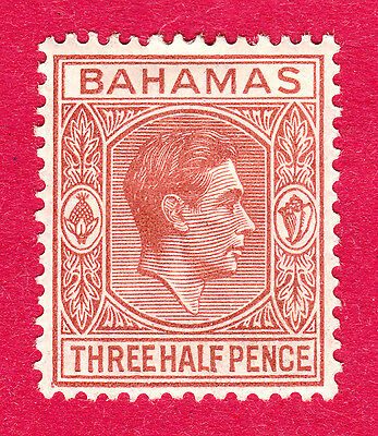 Bahamas Stamps. KGVI 1938-48 1½d Broken Frame Flaw. MH. #3683
